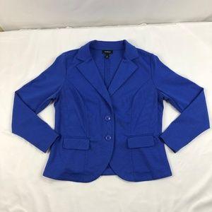 Torrid Women's Blue Button Up Blazer Size 0